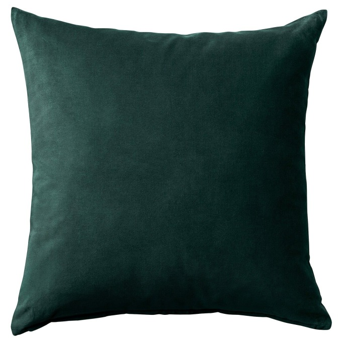Minimalist Home Decor: SANELA Dark Green Cushion Cover