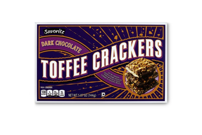 Savoritz dark chocolate toffee crackers