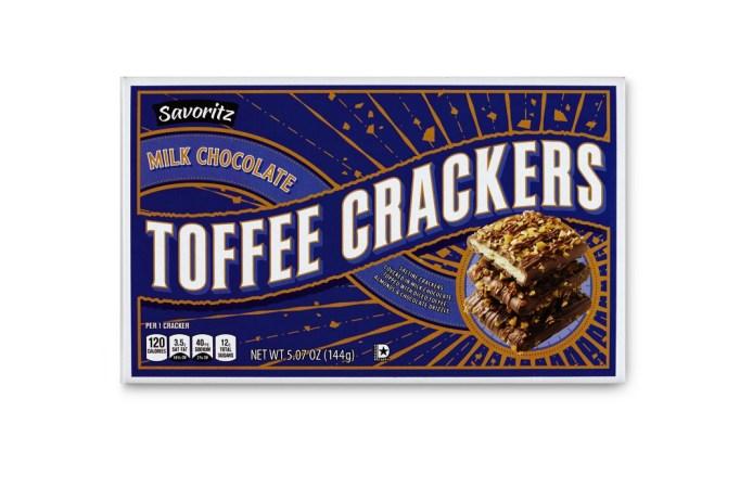 Savoritz milk chocolate toffee crackers