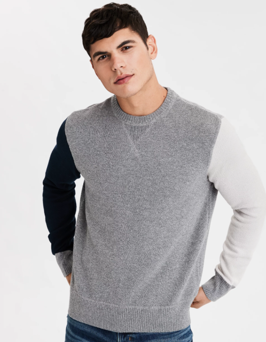 Holiday Gifts Even Angsty Teens Will Love: AE Color Block Crewneck Sweatshirt
