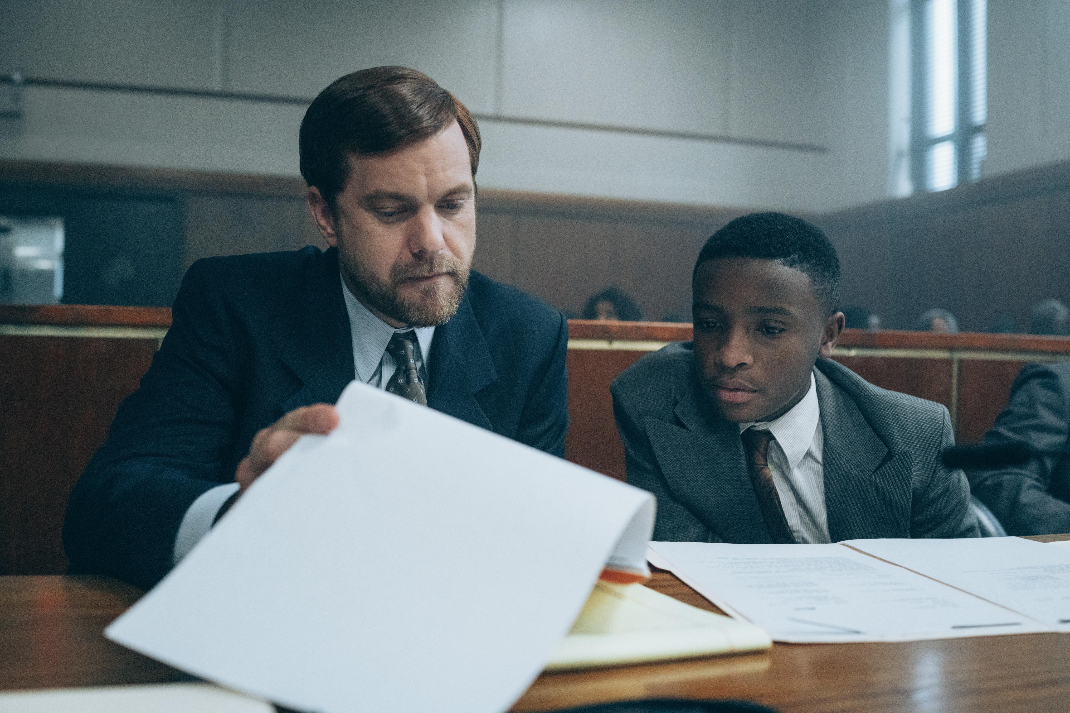 Joshua Jackson as Mickey Joseph and Caleel Harris as Young Antron McCray