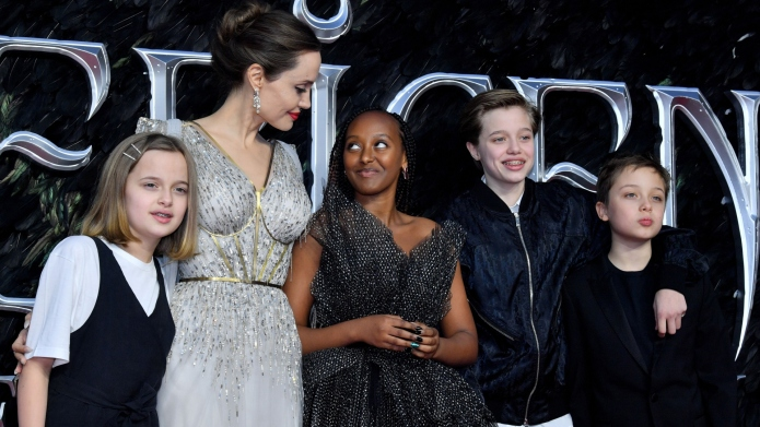 Angelina Jolie and kids.