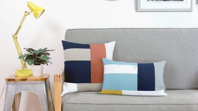 Color block pillow Etsy