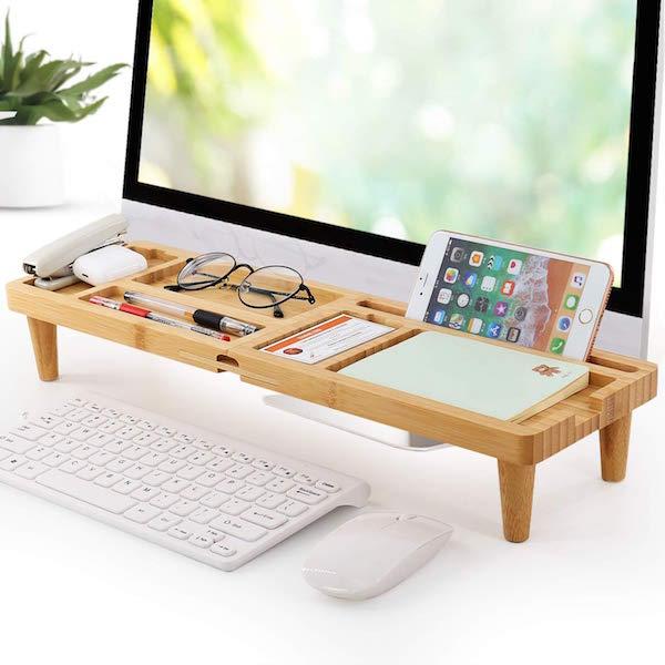 Bamboo Desk Organizer Tray
