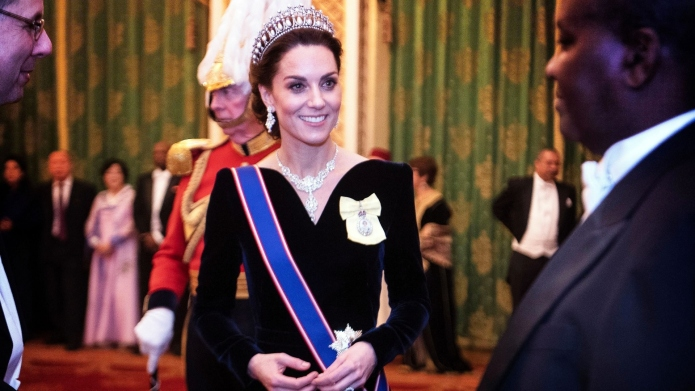 Kate Middleton & Prince William Look Ready to Rule at Diplomatic Reception