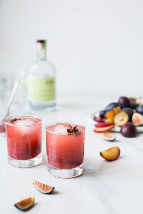 Spiced Plum Fig Kombucha Cocktail