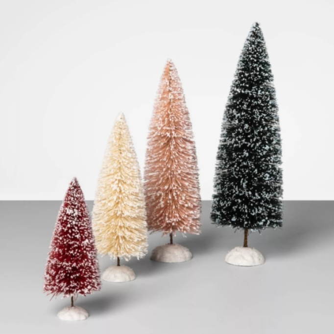 4pc Bottle Brush Sisal Christmas Tree Set — Opalhouse.