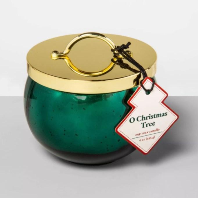 9oz Mercury Glass Ornament Jar Candle 'O Christmas Tree' — Opalhouse.