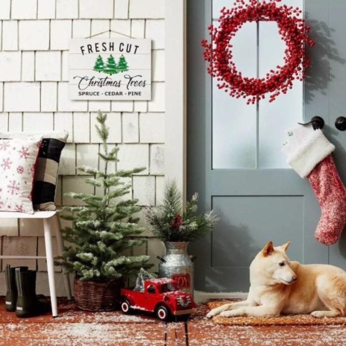 Fresh Cut Christmas Trees Decorative Sign — Wondershop.
