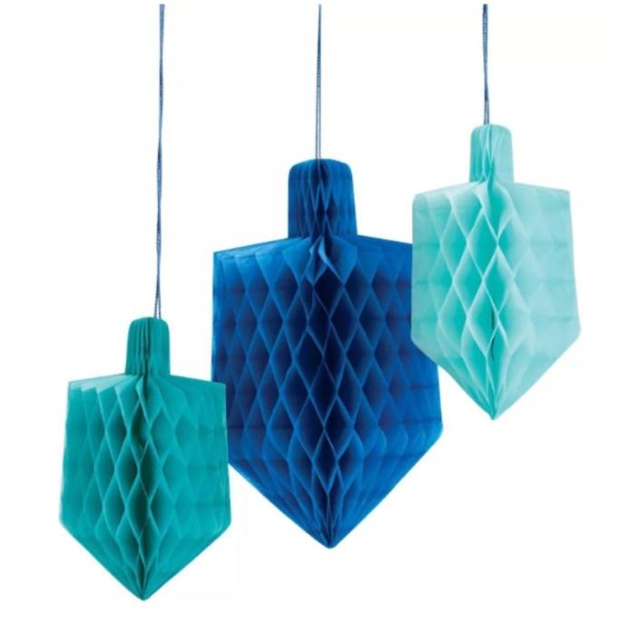 Dreidel Honeycomb Décor.
