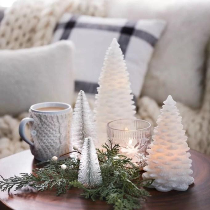 LED Shimmer Flameless Christmas Tree Candle — Threshold.