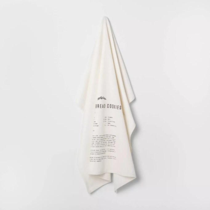 Flour Sack Gingerbread Recipe Tea Towel — Hearth & Hand with Magnolia.