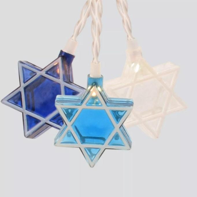 Hanukkah Star of David Novelty Silhouette String Lights.