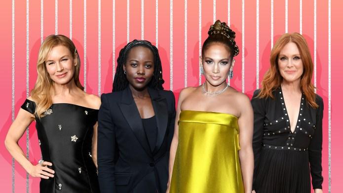 Renée Zellweger, Lupita Nyong'o, Jennifer Lopez,