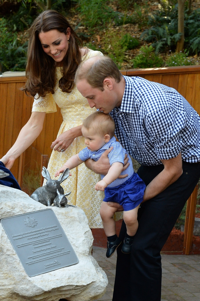 Kate Middleton, Prince William and baby George.