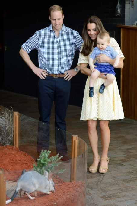 Prince William & Kate Middleton with Prince George.