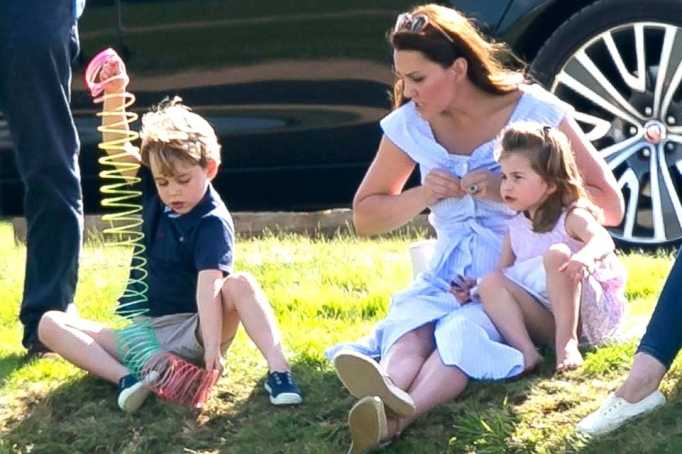 Kate Middleton with Prince George & Princess Charlotte.