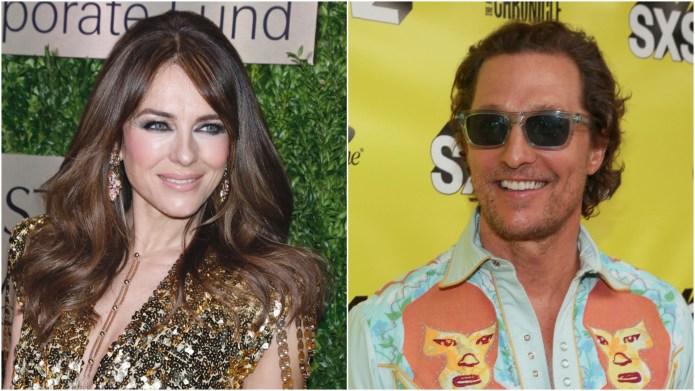 Elizabeth Hurley; Matthew McConaughey.