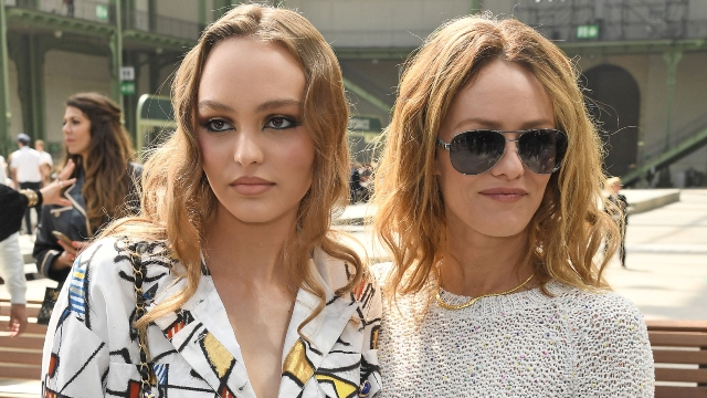 Lily-Rose Depp and Vanessa Paradis.