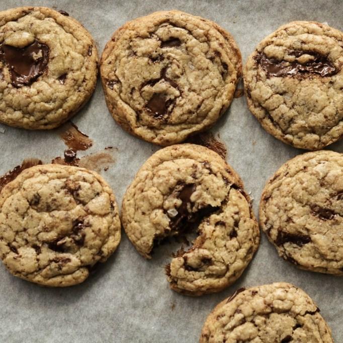 Rosemary Cardamom Chocolate Chip Cookies