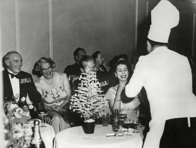 Royal family Christmas dinner.