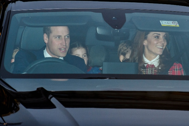 Royal family Christmas pre-lunch.