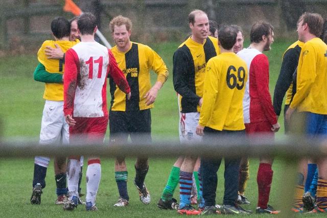 Royal family soccer.
