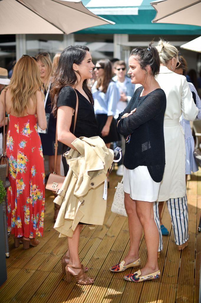 Meghan Markle and Violet von WestenholtzThe Polo Ralph Lauren VIP Suite, Wimbledon Championships, All England Lawn Tennis Club, Wimbledon, London - 04 Jul 2016