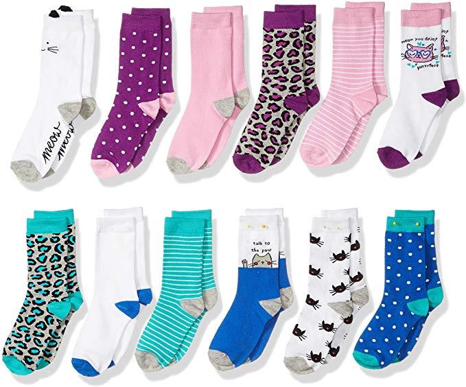 Spotted Zebra Crew Socks