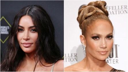 Kim Kardashian; Jennifer Lopez.