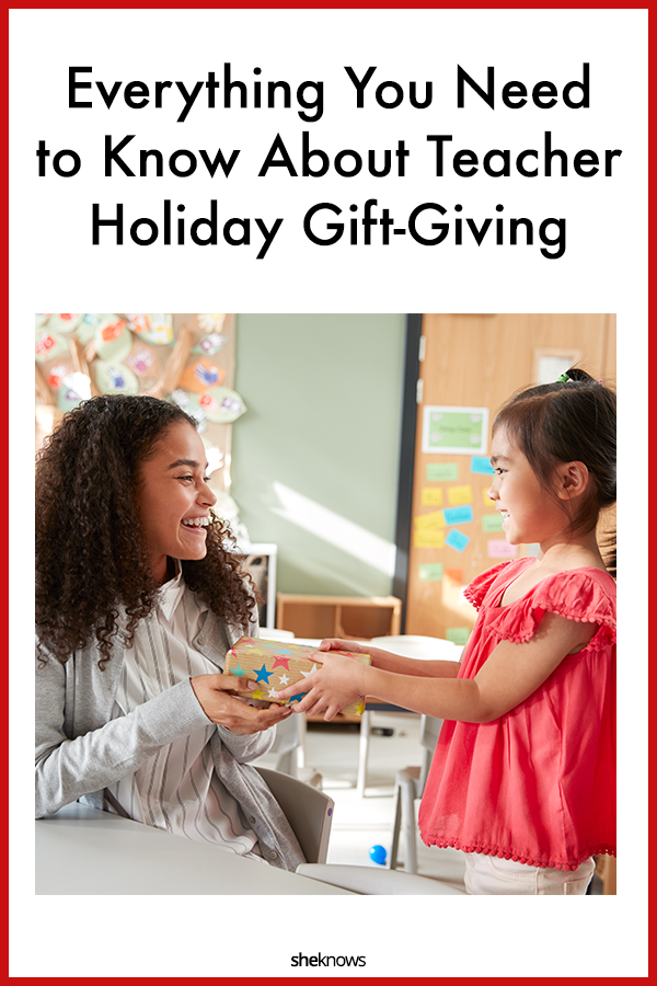 Teacher holiday gift giving