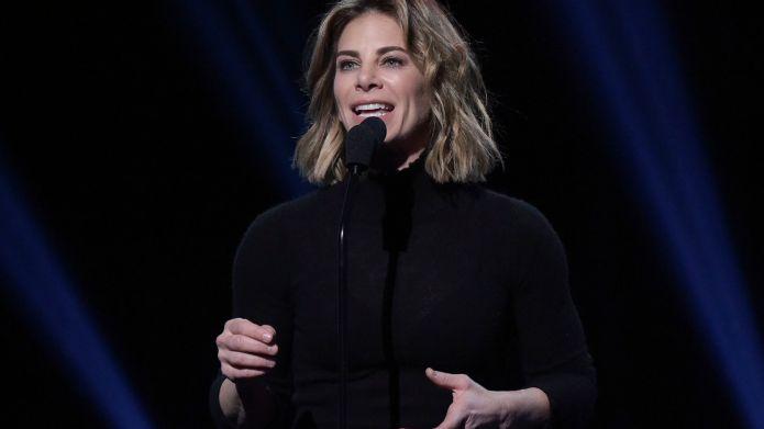 Jillian Michaels speaks onstage during the