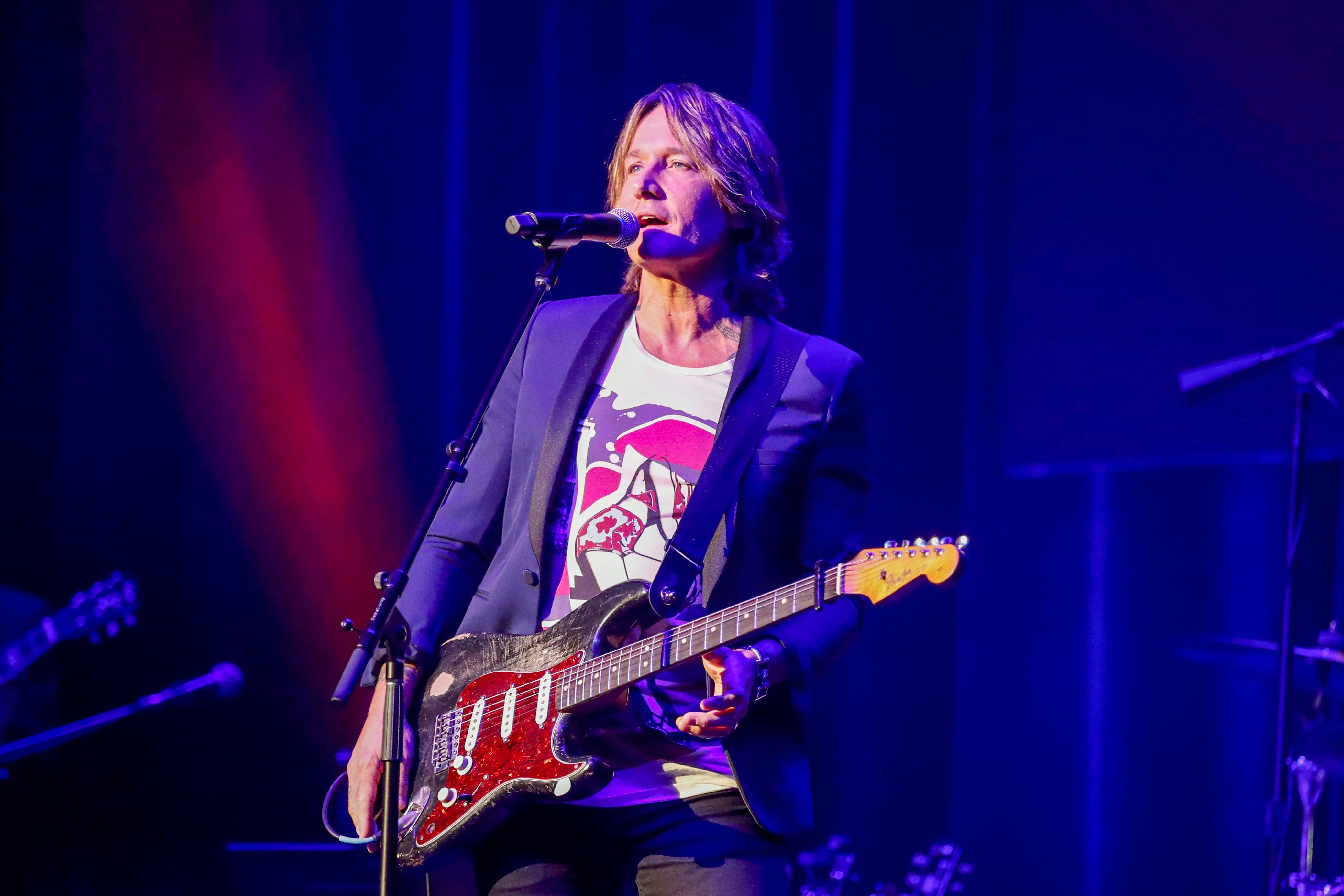 Keith Urban performs at the 13th annual ACM Honors at the Ryman Auditorium, in Nashville, Tenn13th Annual ACM Honors - Show, Nashville, USA - 21 Aug 2019