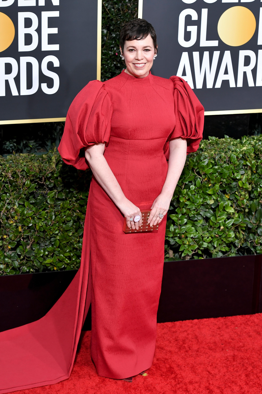 Olivia Colman77th Annual Golden Globe Awards, Arrivals, Los Angeles, USA - 05 Jan 2020 Wearing Emilia Wickstead