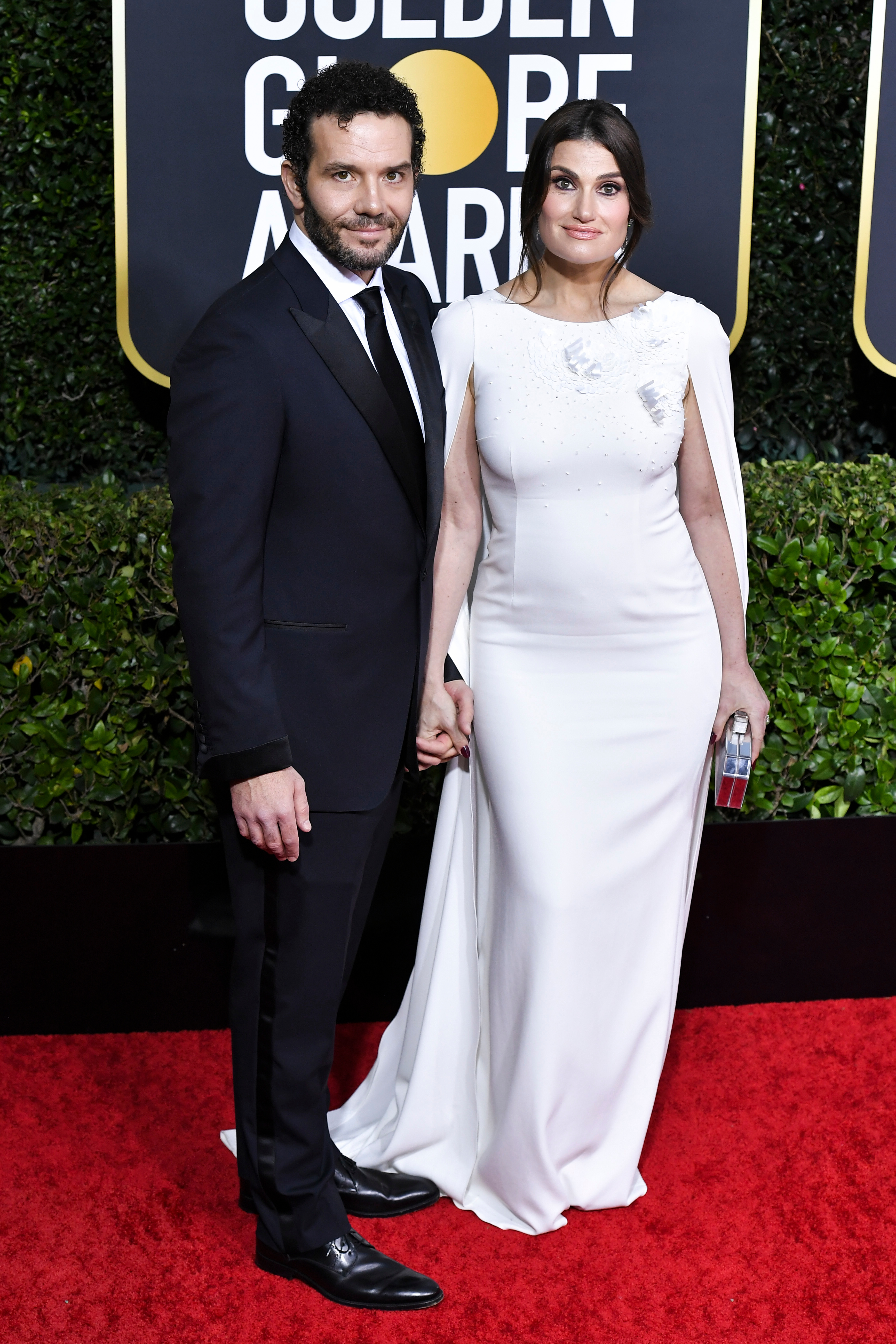 Aaron Lohr and Idina Menzel77th Annual Golden Globe Awards, Arrivals, Los Angeles, USA - 05 Jan 2020
