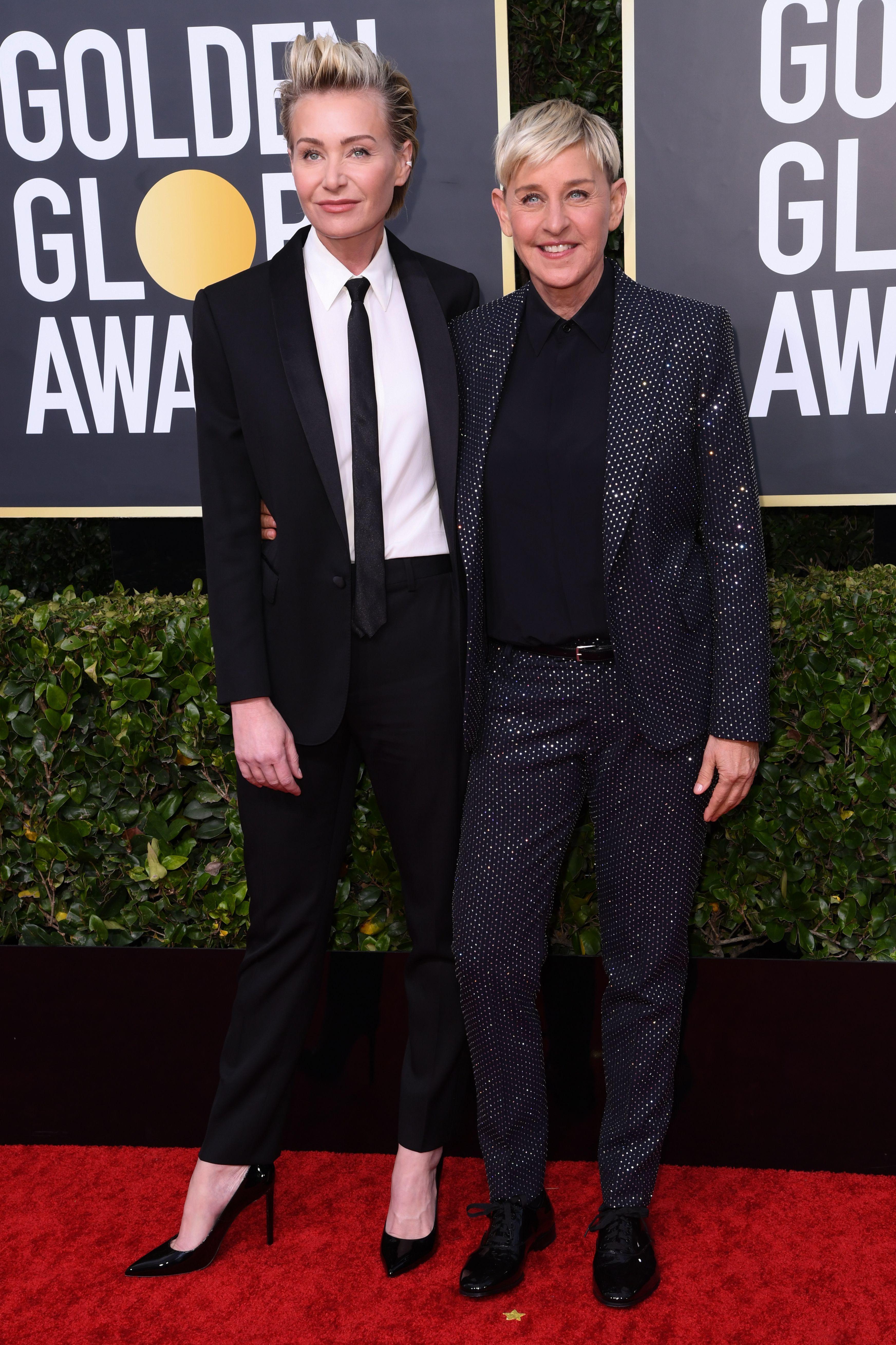 Portia de Rossi and Ellen DeGeneres77th Annual Golden Globe Awards, Arrivals, Los Angeles, USA - 05 Jan 2020