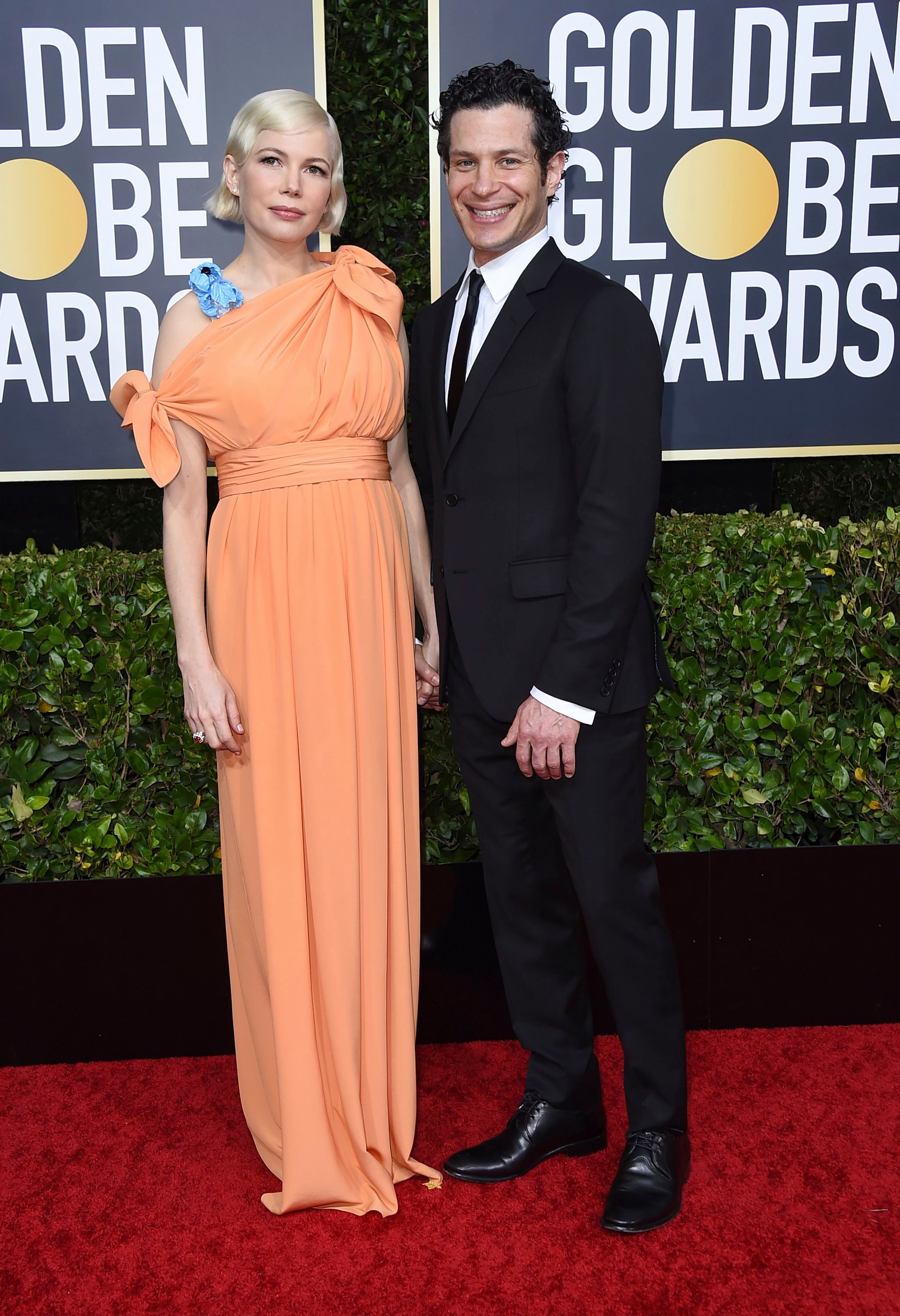 Michelle Williams, Thomas Kail. Michelle Williams, left, and Thomas Kail arrive at the 77th annual Golden Globe Awards at the Beverly Hilton Hotel, in Beverly Hills, Calif77th Annual Golden Globe Awards - Arrivals, Beverly Hills, USA - 05 Jan 2020