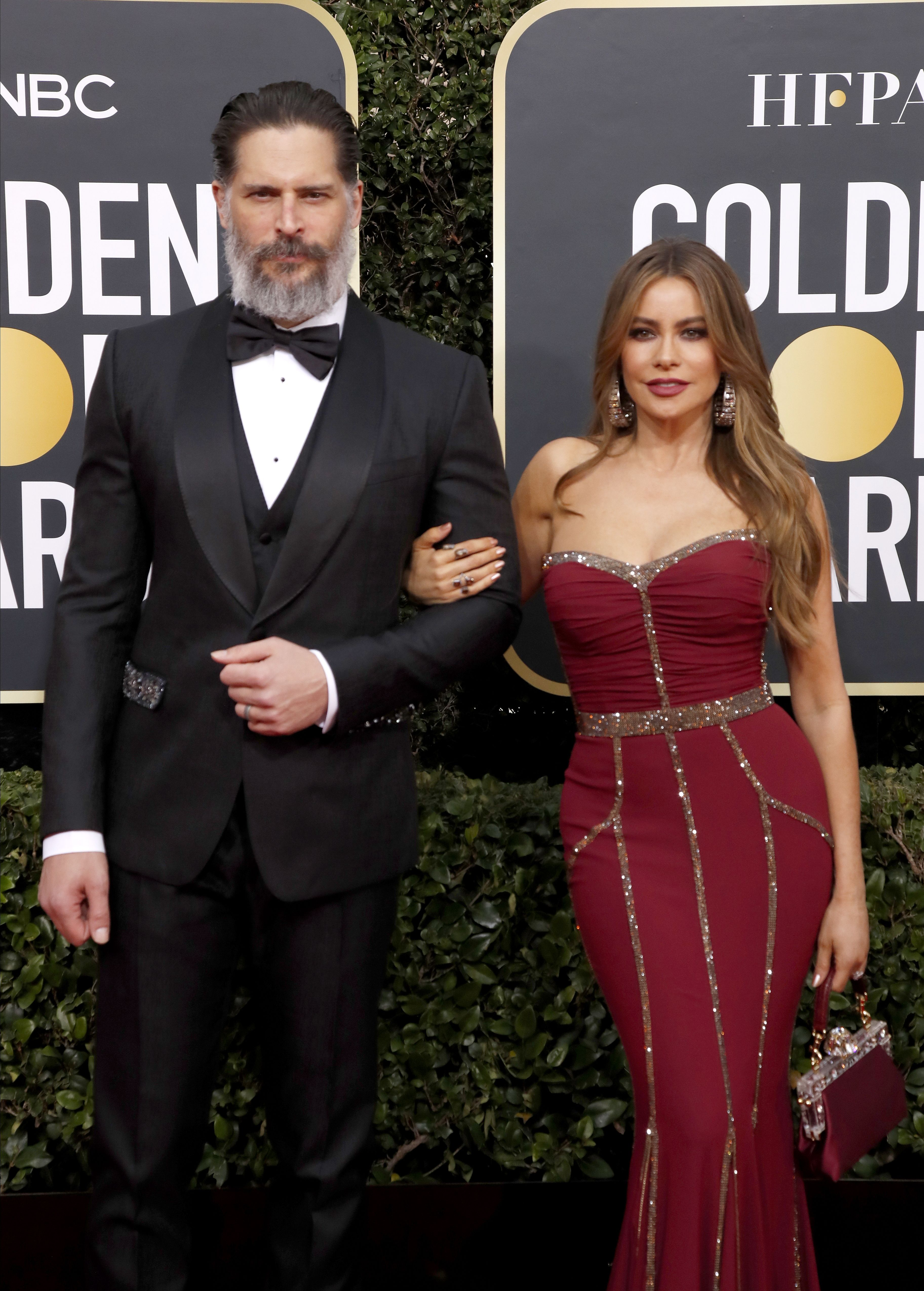 Joe Manganiello and Sofia Vergara arrives for the 77th annual Golden Globe Awards ceremony at the Beverly Hilton Hotel, in Beverly Hills, California, USA, 05 January 2020.Arrivals - 77th Golden Globe Awards, Beverly Hills, USA - 05 Jan 2020
