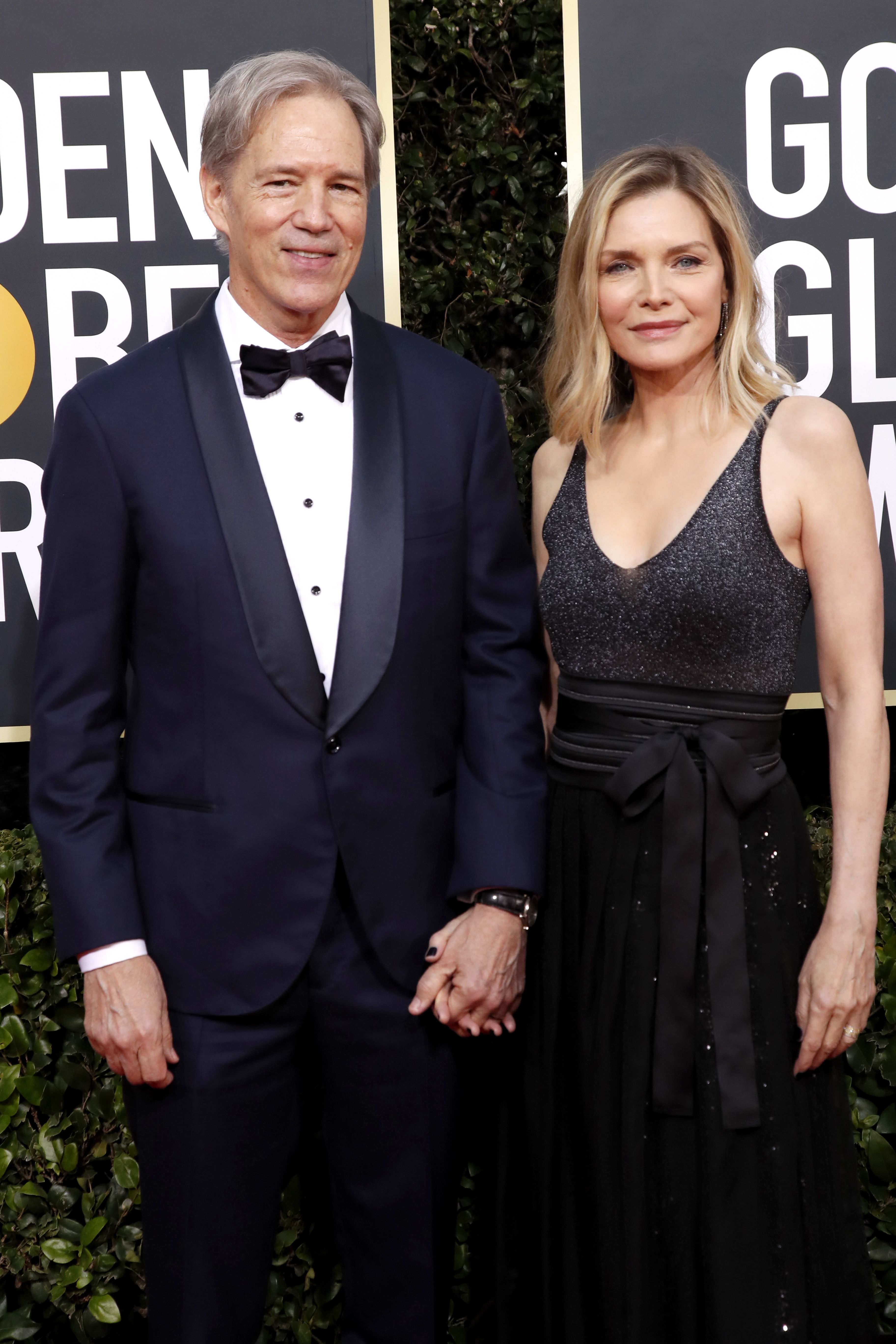 Michelle Pfeiffer and David E. Kelley arrive for the 77th annual Golden Globe Awards ceremony at the Beverly Hilton Hotel, in Beverly Hills, California, USA, 05 January 2020.Arrivals - 77th Golden Globe Awards, Beverly Hills, USA - 05 Jan 2020