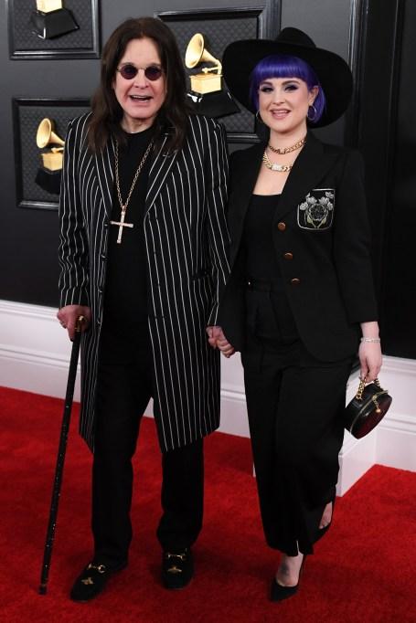 Ozzy Osbourne and Kelly Osbourne 62nd Annual Grammy Awards, Arrivals, Los Angeles, USA - 26 Jan 2020