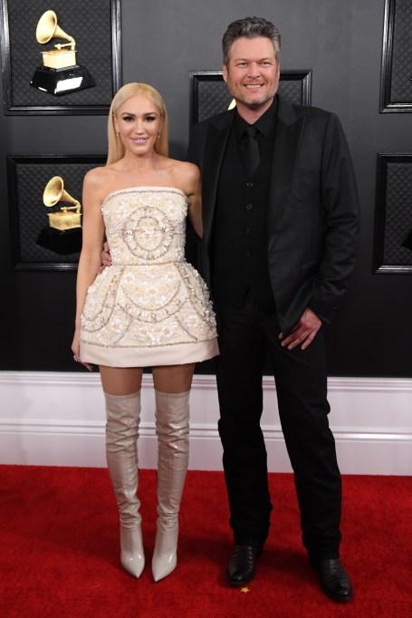 Gwen Stefani and Blake Shelton62nd Annual Grammy Awards, Arrivals, Los Angeles, USA - 26 Jan 2020