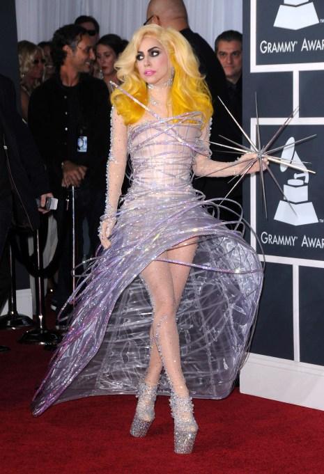 Lady Gaga 2010 Grammys red carpet
