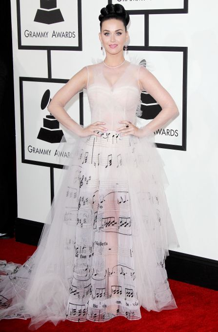 Katy Perry 2014 Grammys red carpet