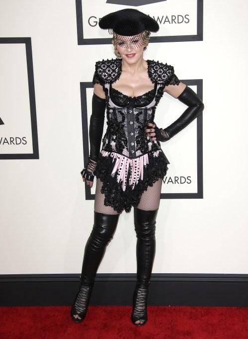 Madonna 2015 Grammys red carpet