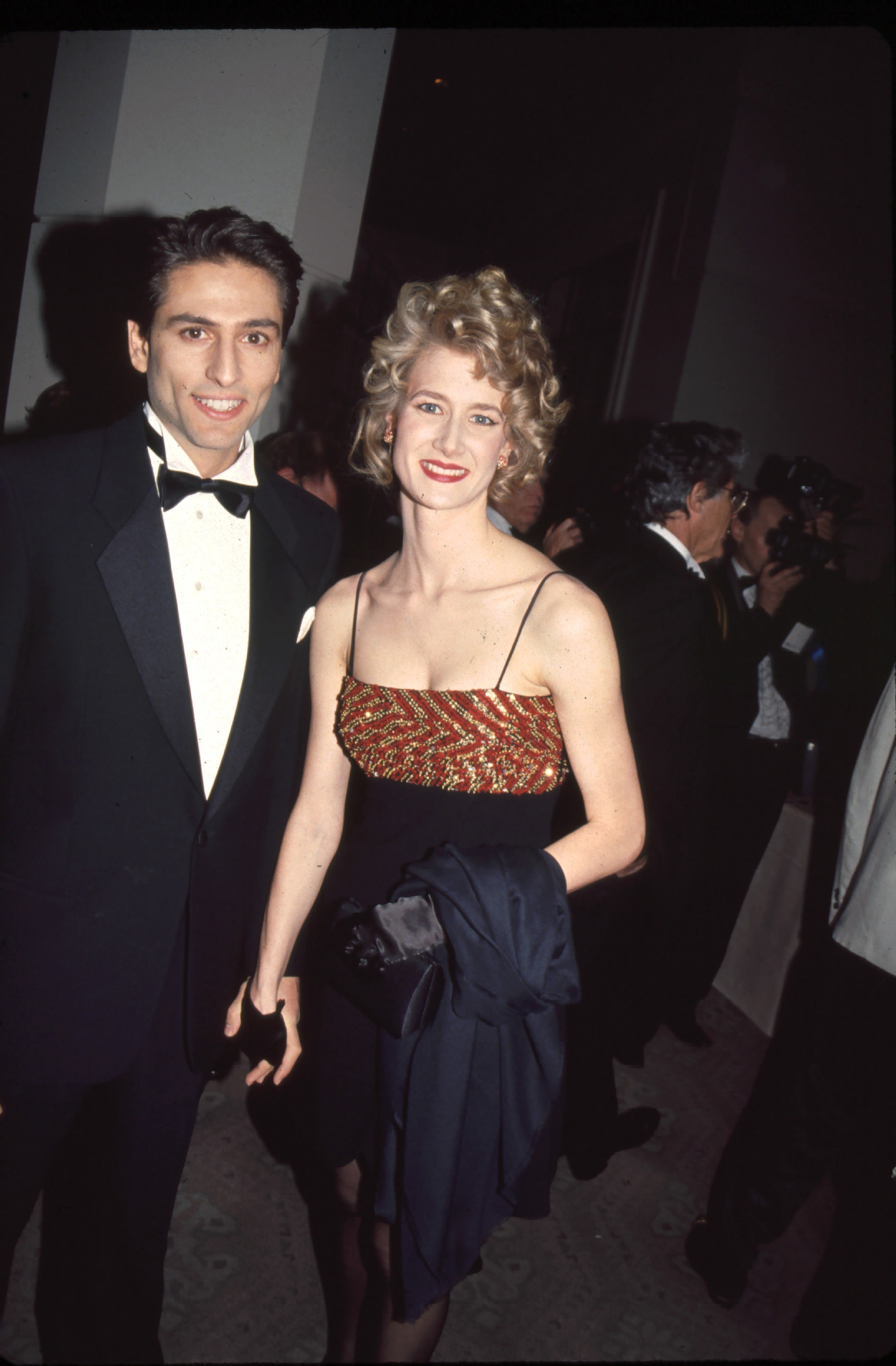 Vincent Spano and Laura Dern1992 Golden Globe Awards January 18, 1992 - Los Angeles, CA . Vincent Spano and Laura Dern . Golden Globe Awards . Photo®Berliner Studio/BEImages