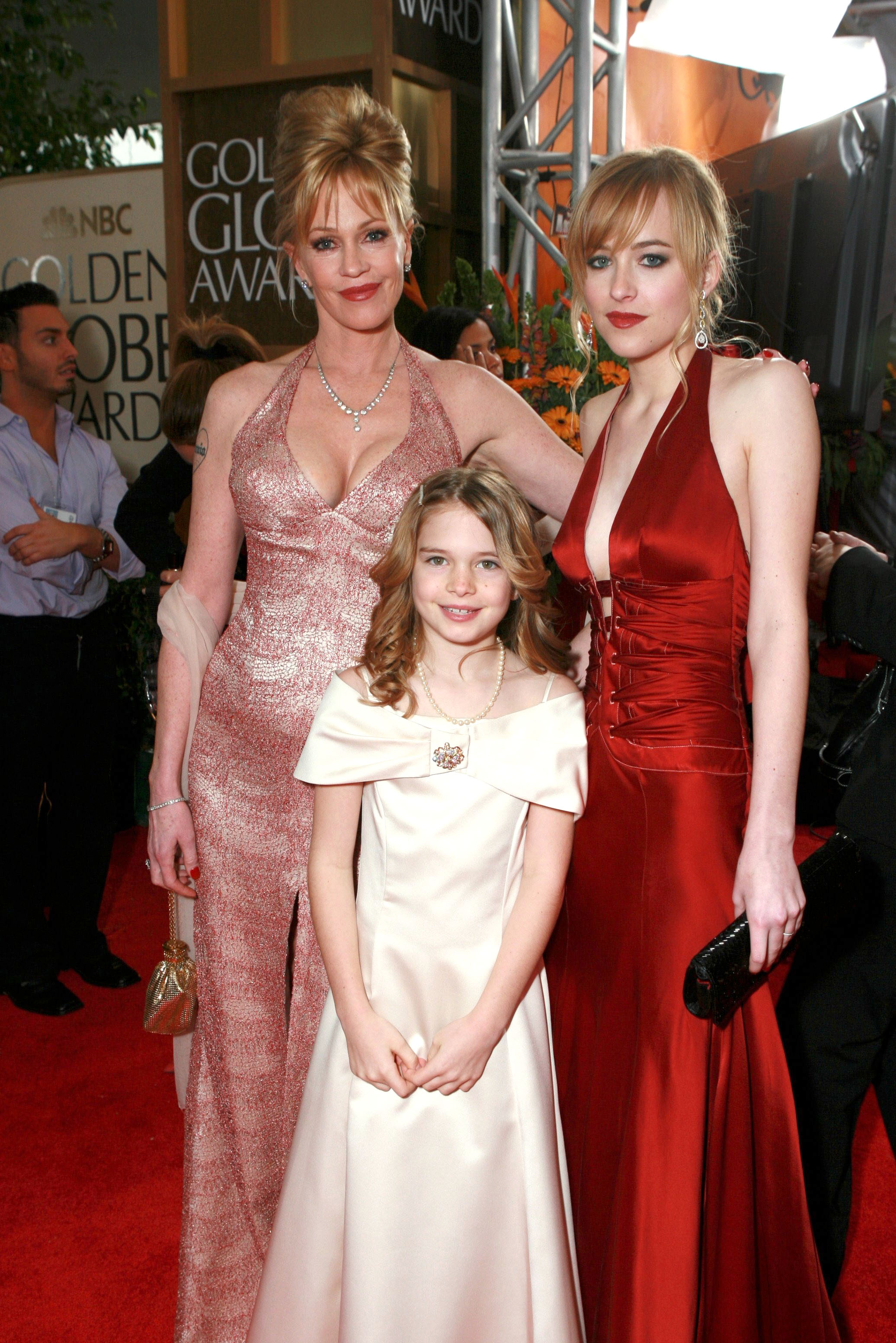Melanie Griffith with daughters Dakota Johnson and Stella BanderasMOET AND CHANDON CHAMPAGNE RECEPTION FOR ARRIVALS AT THE 63RD ANNUAL GOLDEN GLOBE AWARDS, LOS ANGELES, AMERICA - 16 JAN 2006