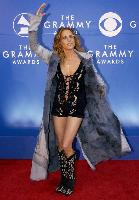 Sheryl Crow 2002 Grammys red carpet