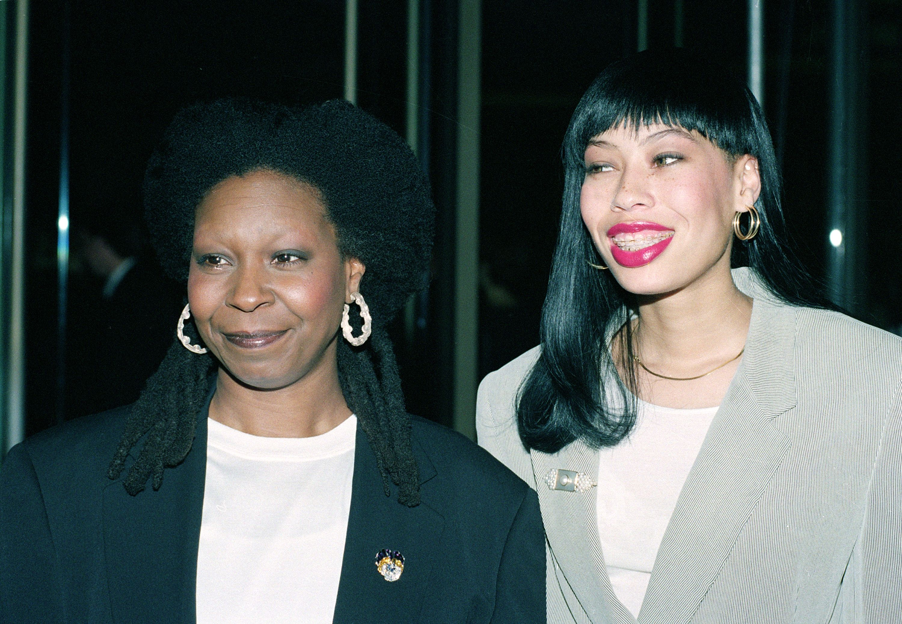 "Goldberg Actress-comedienne Whoopi Goldberg, left, arrives with her daughter, Alexandra Martin, at the 1992 50th Annual Golden Globe Awards in Beverly Hills, Ca., . Goldberg is nominated for her role in ""Sister Act"" in the best actress in a comedy or musical categoryGOLDEN GLOBES GOLDBERG DAUGHTER, LOS ANGELES, USA"