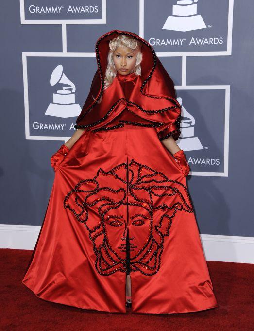 Nicki Minaj 2014 Grammys red carpet