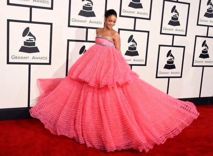 Rihanna 2015 Grammys red carpet